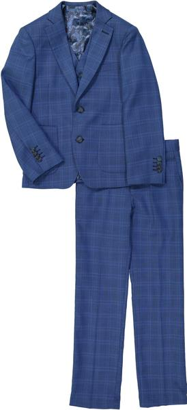 Isaac Mizrahi - 3PC Suit Super Blue Check - Boys