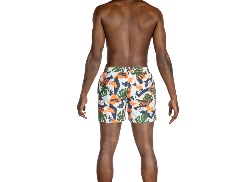 SAXX CANNONBALL - 2N1 Shorts - Aqua Cut Collage - 5""