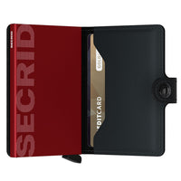 Secrid - Mini Wallet Matte Black & Red