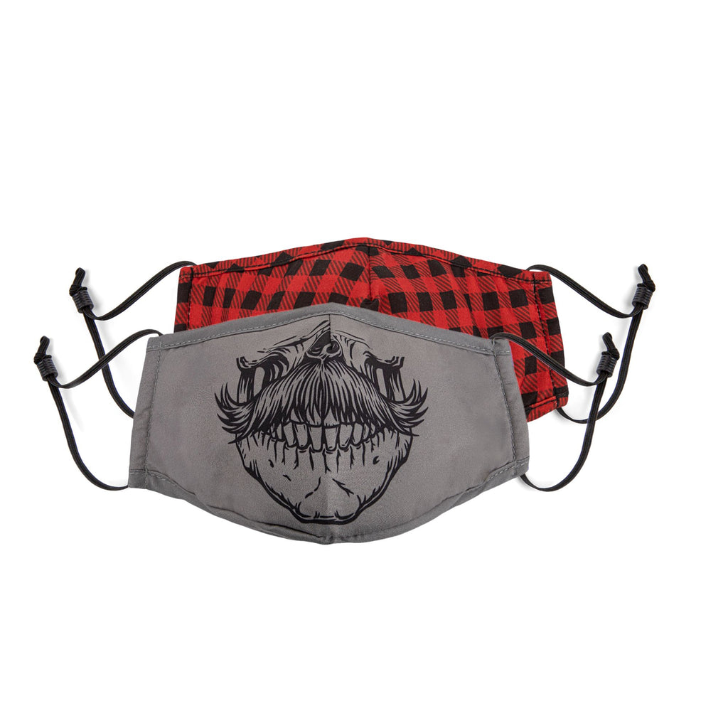 BONDSTREET Adult Mask (Skull + Plaid) -  Adult
