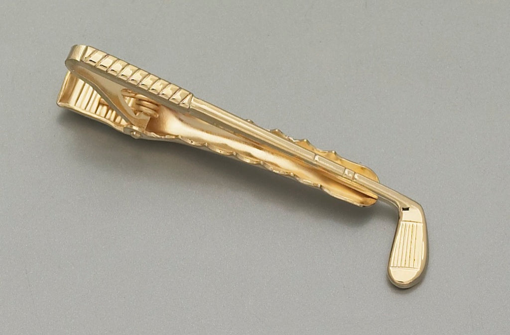 Tie Bar - Golf Club Gold