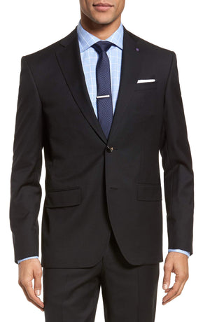 Ted Baker - Roger Slim Fit Solid Wool Suit