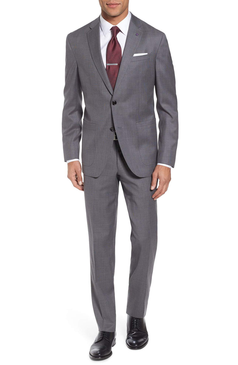 Ted Baker - Kyle Trim Fit Solid Wool Suit