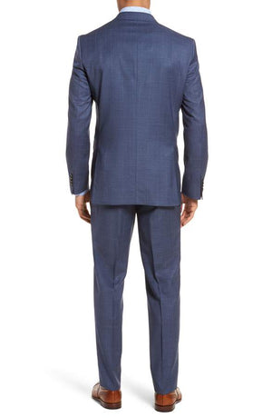 Ted Baker - Jay Trim Fit Windowpane Wool Suit