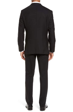 Ted Baker - Jay Trim Fit Solid Wool Suit - Black