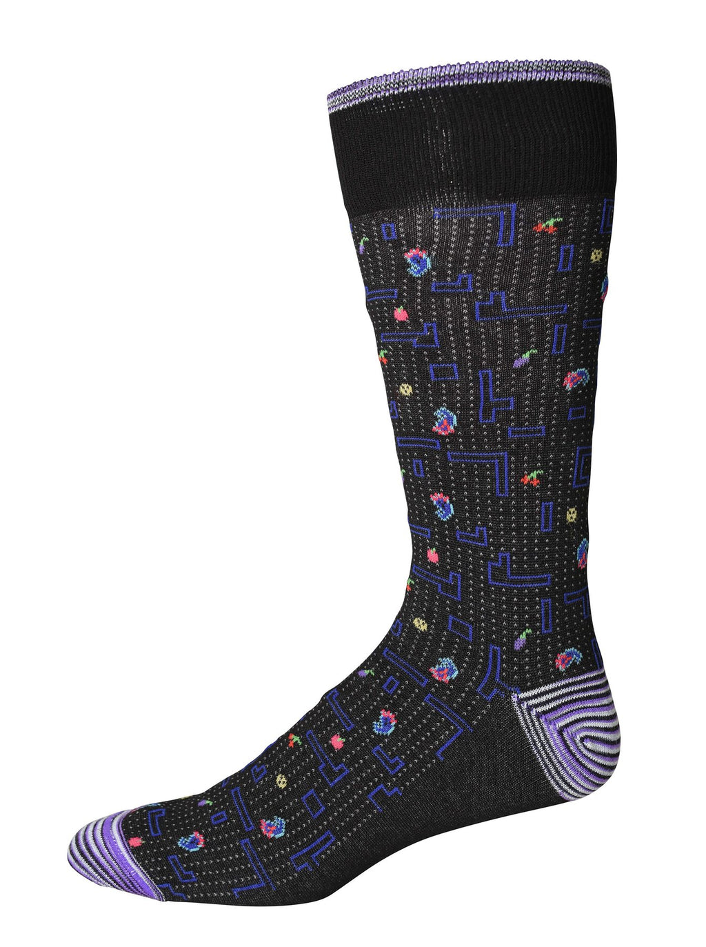 Robert Graham Socks - Victory Lane Black