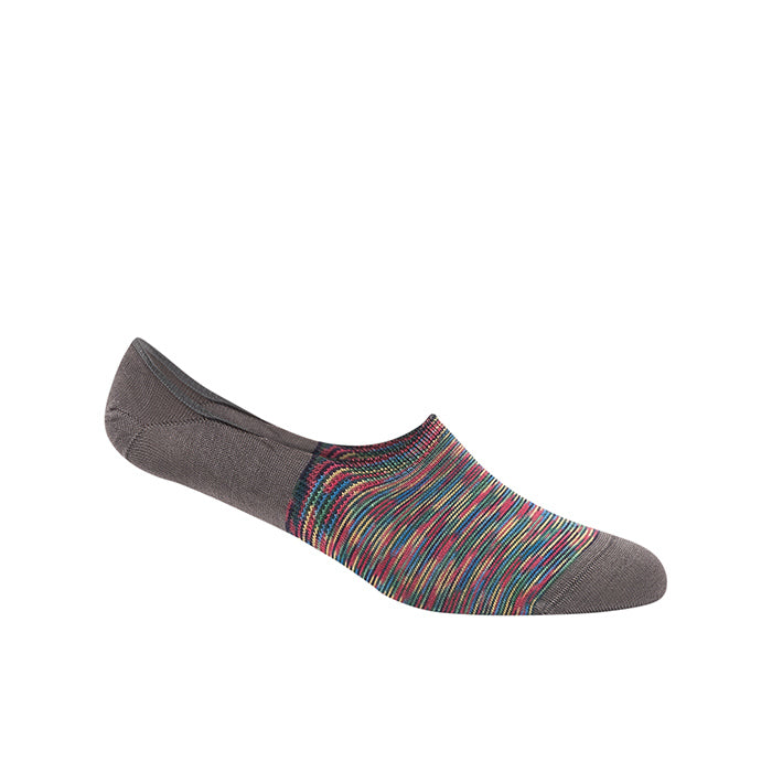 Bugatchi Socks - No Show Loafer Liner Socks - Steel