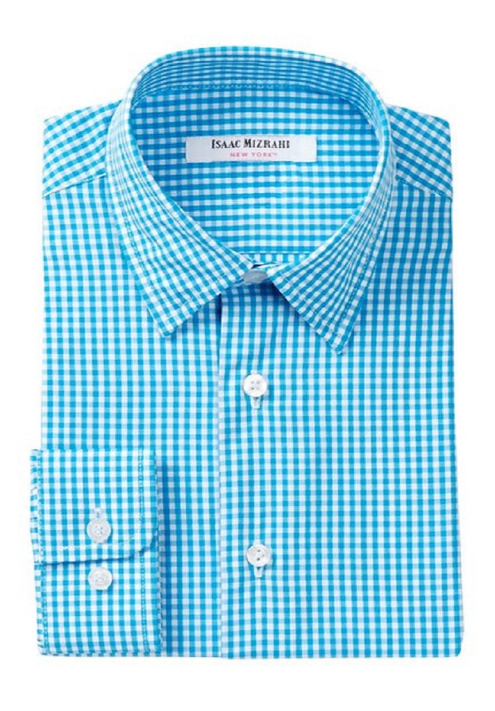 Isaac Mizrahi -  Blue Malibu & White Mini Gingham - Boys