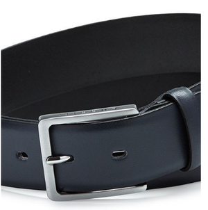 Bugatti - Leather Solid Belt - Blue