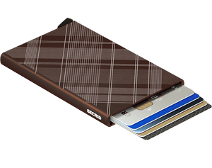 Secrid - Card Protector Laser Tartan Brown