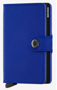 Secrid - Mini Wallet Crisple Blue-Black
