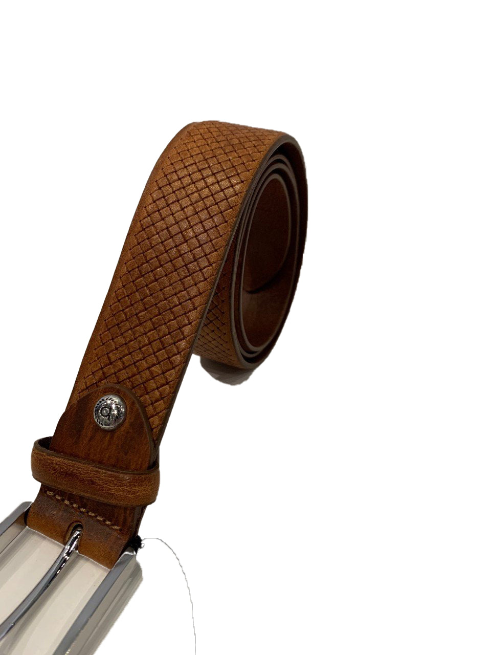 Bugatti - Leather Patterned Belt - Tan
