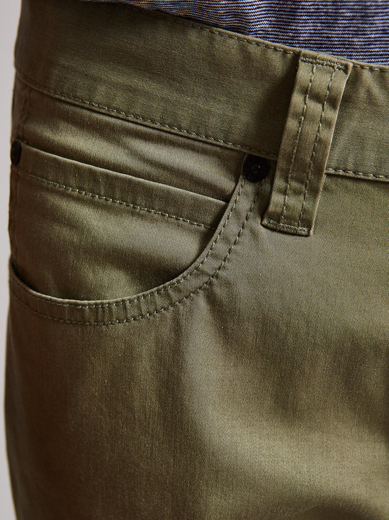 Bugatchi - Men's Taupe Zach Straight Leg Twill Pants