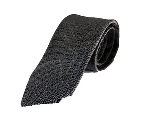Dion Men's 100% Silk Neck Tie - Silver Grey   - BNWT