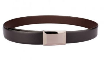 OHM Leather New York Reversible Belt in Hash Pattern