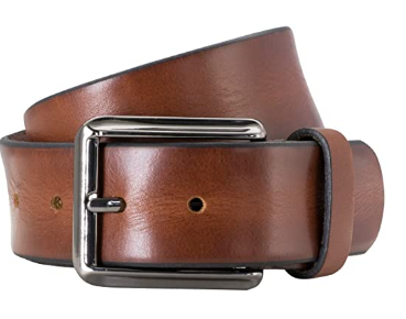 Lindenmann Men's Leather Casual Belt Stunning Mens Mahogany