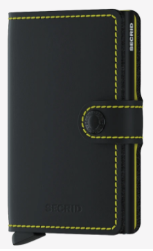 Secrid - Mini Wallet Matte Black and Yellow