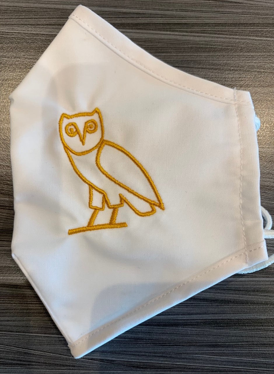 OVO Embroidered Masks - White