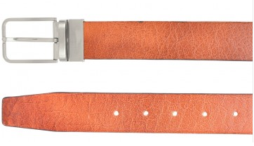 OHM Leather New York Cognac Black Reversible Belt