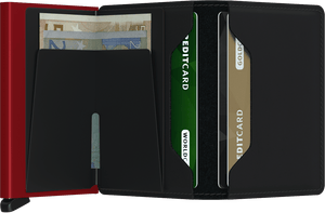 Secrid - Slim Wallet Matte Black & Red