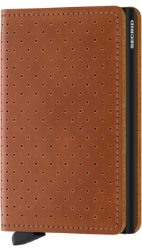 Secrid - Slim Wallet Perforated Cognac