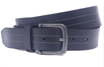OHM Leather New York Sporty Antique Effect Casual Belt