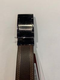 OHM Leather New York Casual Belt with Stitching Accents