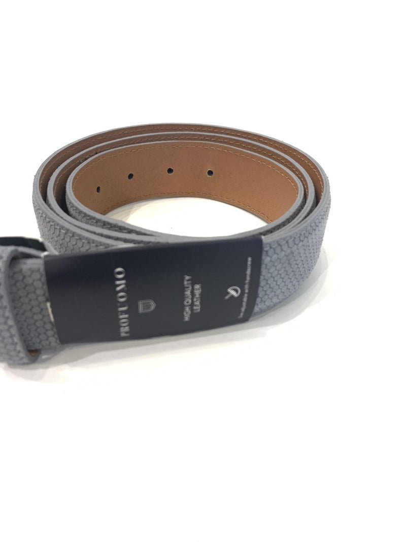 Profuomo Suede Belt Stunning Grey Mens Belt - 56384