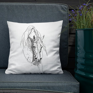 Western Arabian - throw pillow
