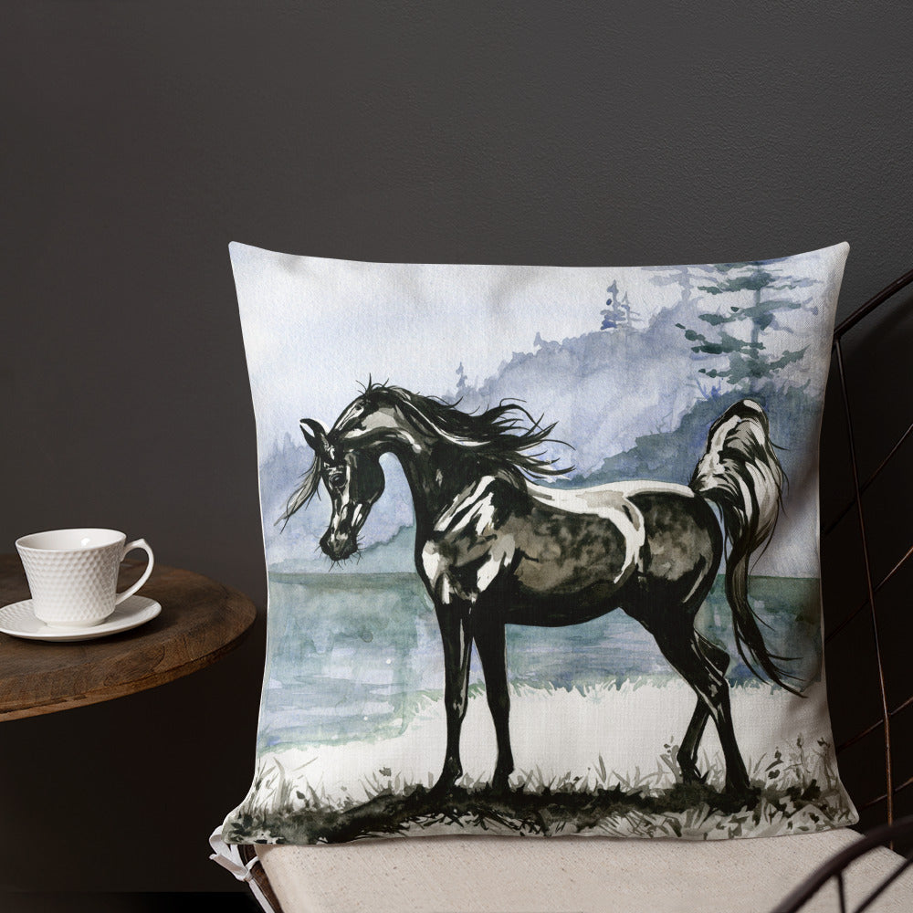 Lady Of The Lake - throw pillow