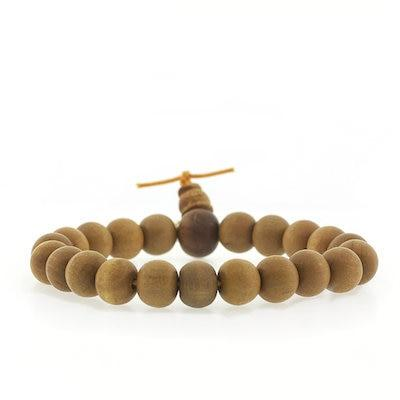 Large Bead Sandalwood Bracelet- QUICK SHIP