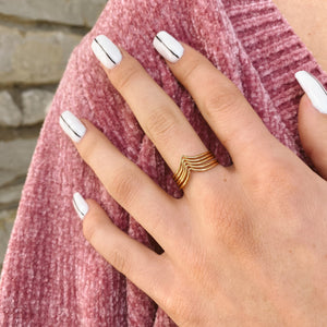 Chevron Ring Stack
