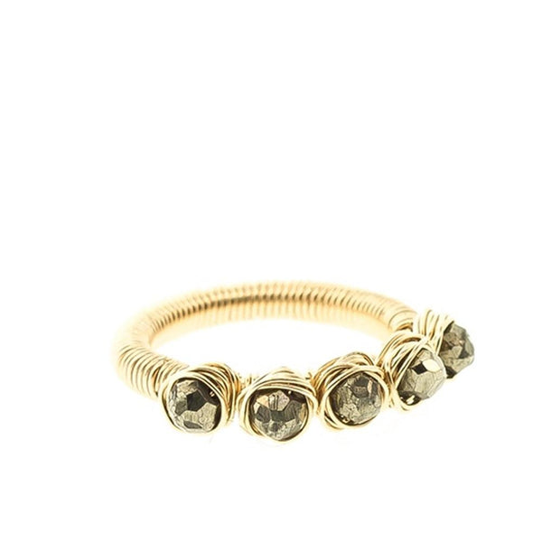 5-Stone Rondelle Rock Nest Ring