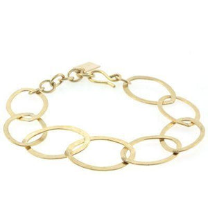 Hammered Oval Chain Bracelet