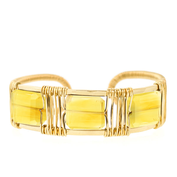 Lots O' Rock 3-Stone Square Wire Cuff