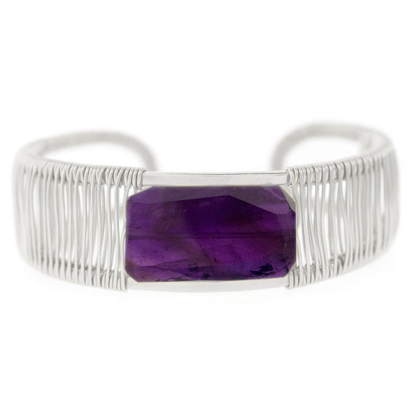 Rockstar 1-Stone Horizontal Wrapped Cuff — Custom orders extended for holiday gifting!