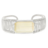 Rockstar 1-Stone Horizontal Wrapped Cuff