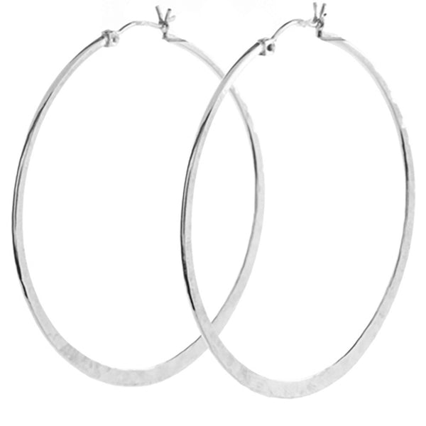 Large Textured Hoops