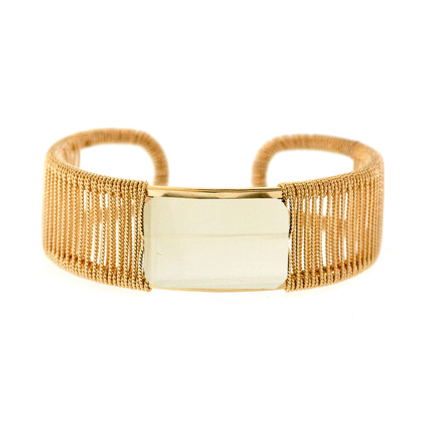 Rockstar 1-Stone Horizontal Twist Wrapped Cuff