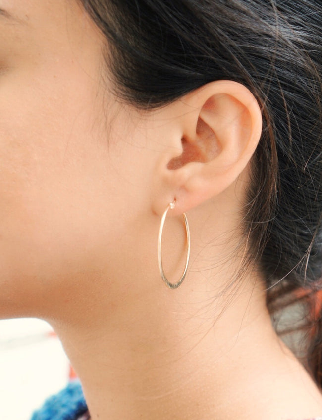 Medium Textured Hoops