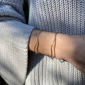 Organic Wide Stacking Cuff