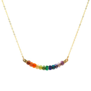 Rainbow Cleo Swing Necklace