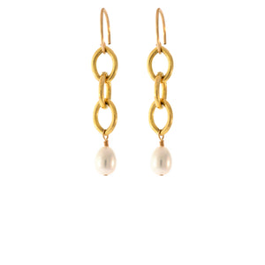 Heavy Link Earrings in 14K Gold-Filled