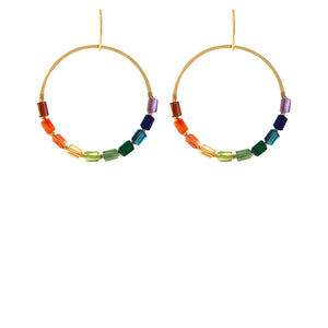 Rainbow Jolie Circle Earrings