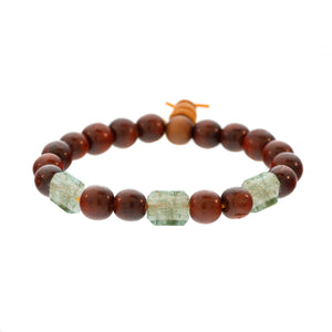 Raj Rock 3-Stone Redwood Bracelet
