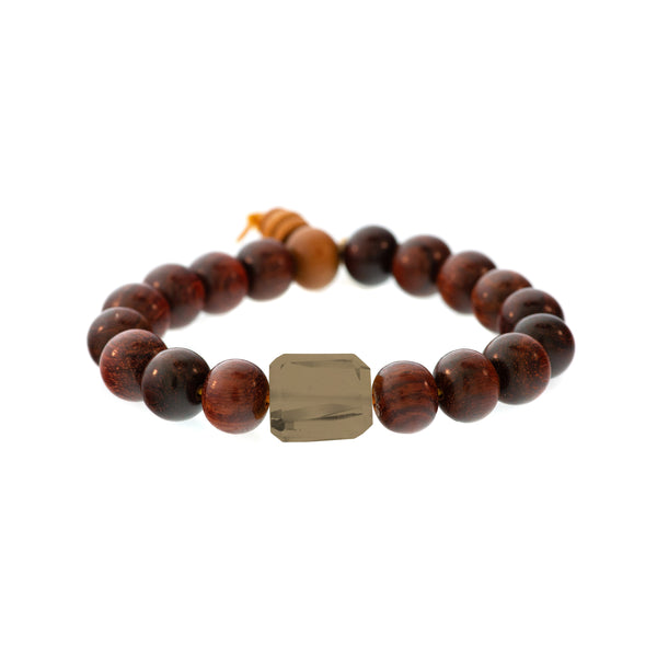 Lots O' Rock Redwood Bead Bracelet
