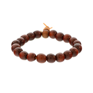 Small Bead Redwood Bracelet