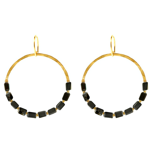 Jolie Circle Earrings
