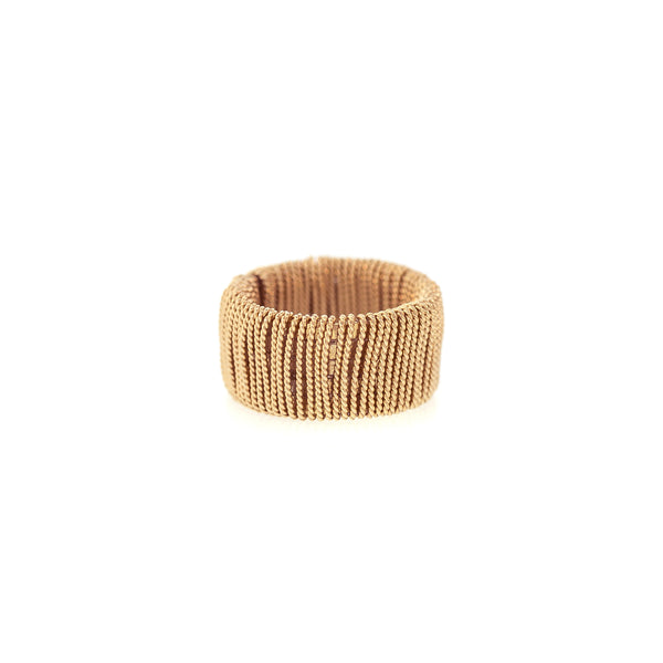 Wide Twist Wrapped Band