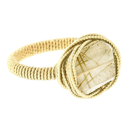 Wrapped Petite Rock Nest Ring